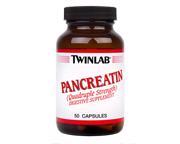 TWINLAB PANCREATINA QUADRUPLE STRENGTH 500 MG MEJORAR DIGESTION
