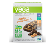 VEGA PLANT PROTEIN SNACK BAR BARRAS PROTEINAS BOX 4 UN CHOCOLATE