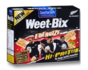 ALL BLACKS SANITARIUM WEET-BIX ENERGIZE HI-PROTEIN BAR BOX 48 UN