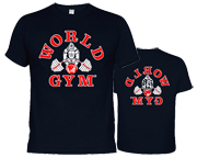 WORLD GYM POLERA BODYBUILDING CLASSIC VINTAGE T-SHIRT (XXL) NAVY