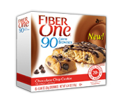 FIBER ONE 90 CALORIE BROWNIE BAR BARRAS PROTEINAS 6 UN CHIP COOK