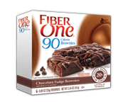 FIBER ONE 90 CALORIE BROWNIE BAR BARRAS PROTEINAS 6 UN CHOCOLATE