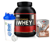 ON 100% WHEY PROTEIN GOLD 5 LBS + MUSASHI P30 PROTEINA STACK
