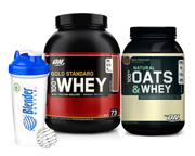 ON 100% WHEY PROTEIN GOLD 5 LBS + OATS & WHEY PROTEINA STACK
